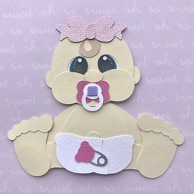 Sitting baby girl fully assembled die cut / paper piecing