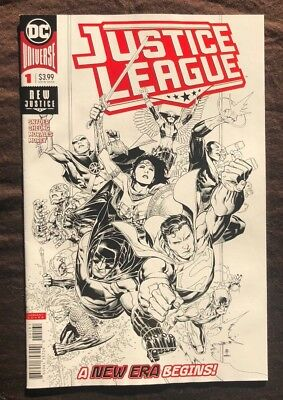 Justice League #1 1:100 Jim Cheung  B&W Sketch Variant Cover