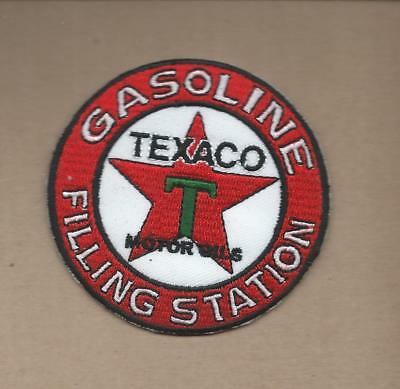 New 3 Inch  Texaco Filling Station Iron On Patch Free Shipping Q4