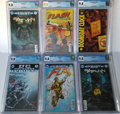 "CGC 9.8 9.9 - DC Rebirth - Batman/Flash ""The Button"" - Doomsday Clock - 6 Comics"
