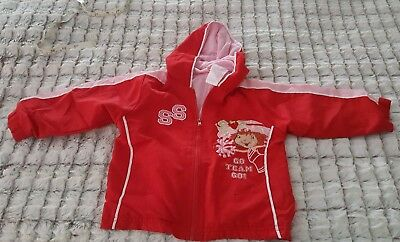 Strawberry Shortcake Girls Embroidered Cheerleader Jacket size 24 Months