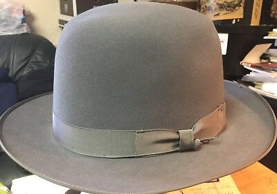 Vintage Beaverbrook Fedora Blue/Gray Size 7 3/8 Long Oval-7 1/2