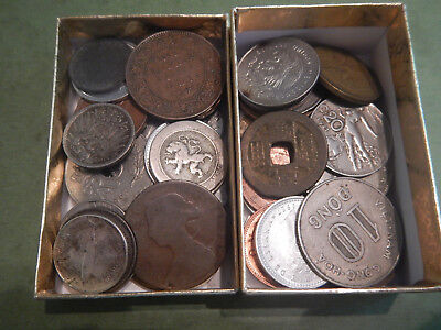 50+ Lot Of Various Foreign Coins INCLUDES 1800s and SILVER Coins Lot #115
