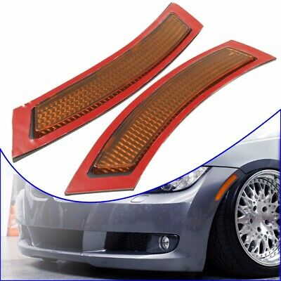 2x Front Bumper Reflector Side Marker Yellow For BMW E92 E93 3 Series 2DR 07-13