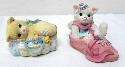 """Enesco Calico Kittens Figurine """"We're Partners in the Dance of Life"""" """"Bag Tricks"""