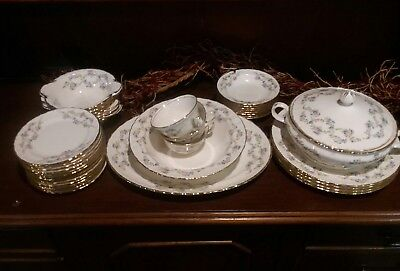 Euc Lot Of 41 Pope Gosser China Blue Belle  42 Sterling Set.. (Must See)!!!