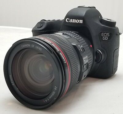 Canon Eos 6D 20.2Mp Dslr Camera With Ef 24-105Mm F/4L Is Usm Lens ~ Sc: 24,164 ~