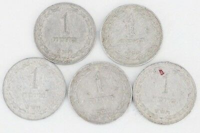 1 Pruta Israel 1949 Coin Lot Of 5 Aluminum World Foreign Combined Shipping D84