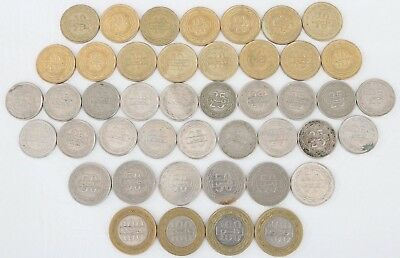 Bahrain 44 Coin Lot 10, 25, 50, 100 Fils 1992-2009 World Combined Shipping D85