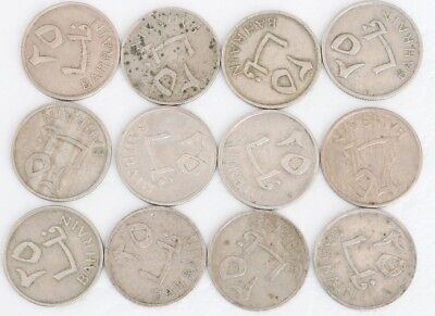 25 Fils Bahrain 1965 Coin Lot Of 12 Foreign World Currency Combined Shipping D81