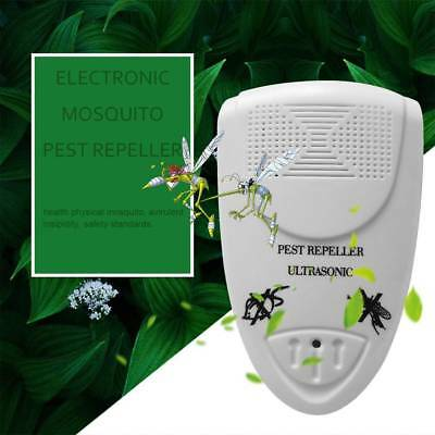 Ultrasonic Pest Reject Electronic Repeller Anti Mosquito Insect Killer US plug