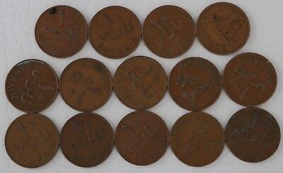 10 Fils Bahrain 1965 Coin Lot Of 14 Foreign World Currency Combined Shipping D80