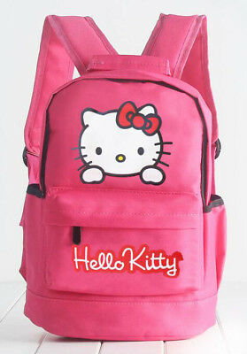 New Cute Canvas Hello Kitty Girls Student Travel Schoolbag Backpack Bag Rose