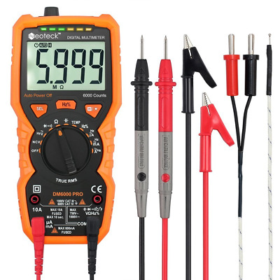 Multimeters Neoteck 6000 Counts Auto Ranging AC/DC Digital Multimeters with