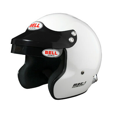 BELL MAG-1 Helm White Gr. M mit H.A.N.S.- Clips