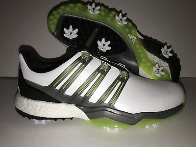 b28bc4077 Adidas PowerBand BOA Men s Golf Shoes Q44848 Ultra Boost Size 9.5 White  Solar
