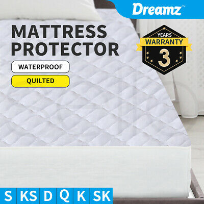 Fully Fitted Waterproof Mattress Protector Quilted  Sheet Cover All Size