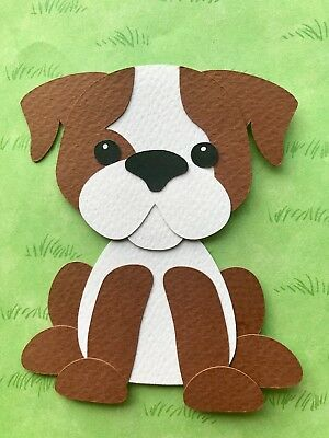 Bulldog - fully assembled paper piecing / die cut