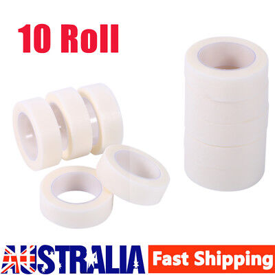 New Micropore Medical Tape Eyelash Extension 10 ROLLS 12.5mm x 9.1m AU