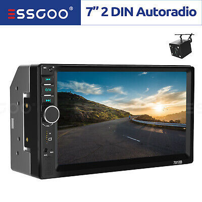 "2DIN 7"" HD AUTORADIO BLUETOOTH STEREO LETTORE MP5 AUX Mirror Link + Rear Camera"