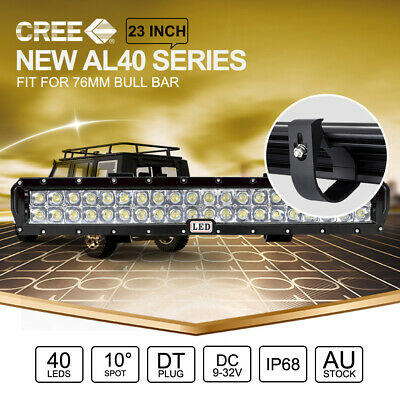 23 inch CREE LED Light Bar SPOT For 49mm ARB Front Bull Bar Mount Black 22""
