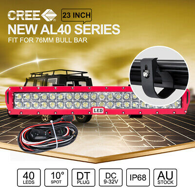 23 inch CREE LED Light Bar For 49 ARB Front Bull Bar RED & Wiring Harness