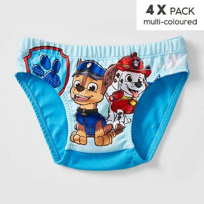 NEW Paw Patrol 4 Pack Briefs Kids