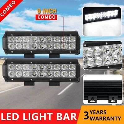 Pair 9 inch 180W CREE LED Light Bar Spot Flood 4x4 Ute Work Driving Bars 12V 24V