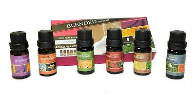 6 Scents (Blended) 100% Pure Essential Oil Set 10ml Therapeutic Grade Set