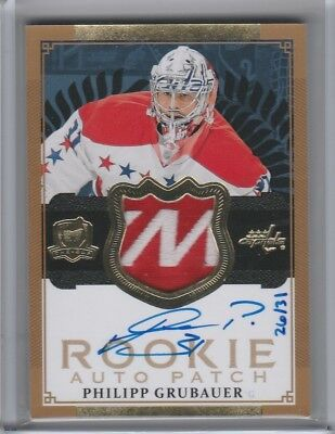 2013-14 Upper Deck The Cup Gold  Rookie - Philipp Grubauer #124 26/31