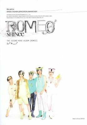 SHINEE [ROMEO] 2nd Mini Album CD+Foto Buch K-POP SEALED