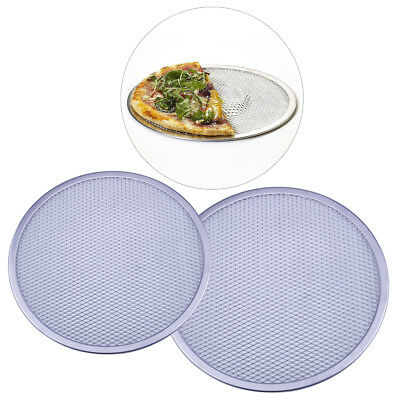 Alu Alloy Flat Mesh Pizza Screen Round Baking Tray Net Kitchen Tools Non-stick