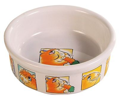 Cream Ceramic Bowl for Small Animals Degus Rats Guinea Pigs 11cm/240ml