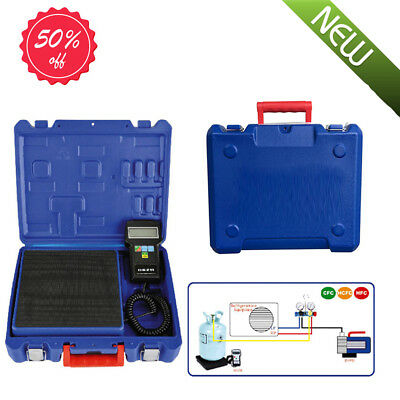 Portable Digital Electronic Refrigerant Charging Scale 220lbs for HVAC W/Case AA