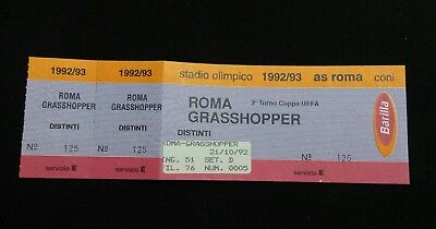 Biglietto Ticket As Roma Grasshopper Coppa Uefa 1992/93 Europa League