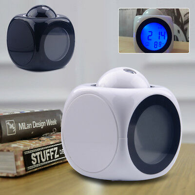 Digital Projection Alarm Clock LCD Voice Talking LED Time Temperature Projector