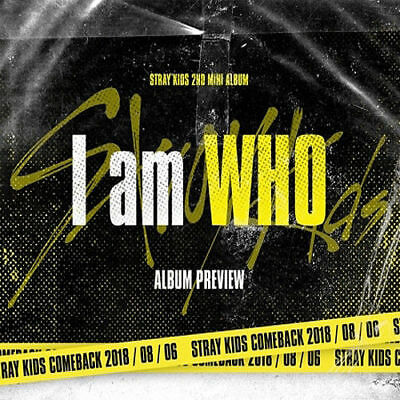 STRAY KIDS [I AM WHO] 2nd Mini Album RANDOM CD+Foto Buch+3p Karte+Lyrics SEALED