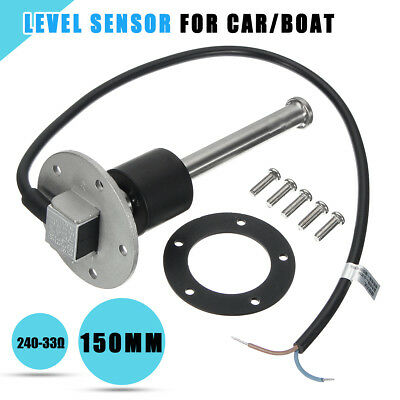 150mm Marine Boat Water Fuel Sending Unit Truck RV Level Gauge Sensor 240-33ohms