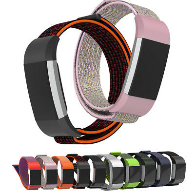 For Fitbit Charge 2!Lightweight L/S Sports Woven Nylon Bracelet Wrist Strap Band