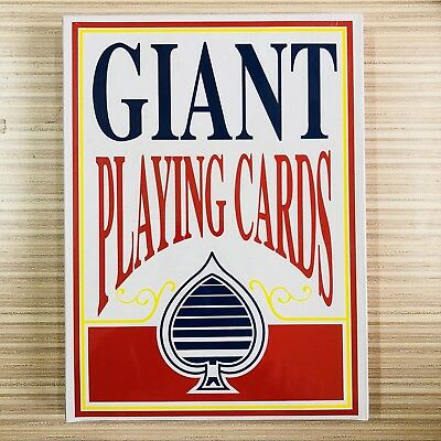 Giant Poker Cards Playing Cards 28x 20cm Jumbo Deck Novelty Games All Ages Fun