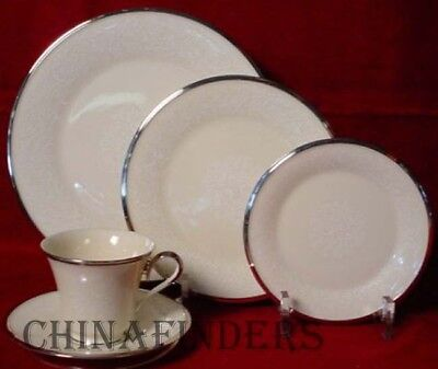 LENOX china MOONSPUN 5-piece PLACE SETTING - cup saucer dinner salad bread plate