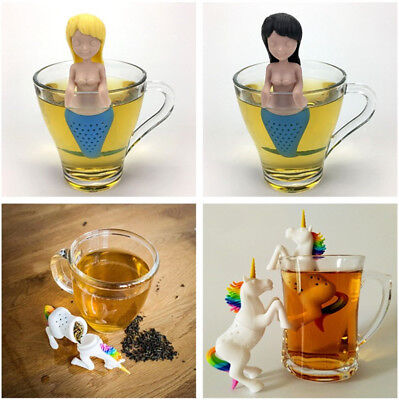 Silicone Tea Infuser Unicorn Tea Bag Leaf Strainer Herbal Spice Filter Diffuser