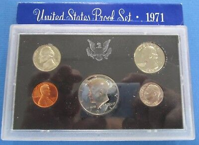 1971 San Fransisco Mint USA Proof Coin Set Sealed In Original Packaging