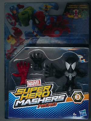 Marvel Super Hero Mashers Micro Black Spiderman (Venom) Serie 3