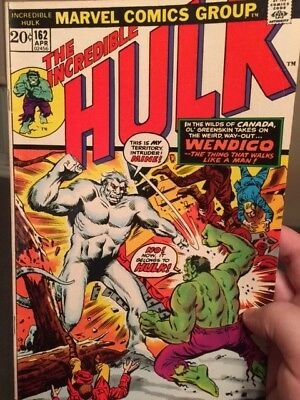 The Incredible Hulk # 162 - Marvel Comics - First appearance of The Wendigo -