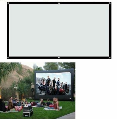 Fabric Matte Projector Projection Screen Home Theater Screen Size:100'' inch 16: