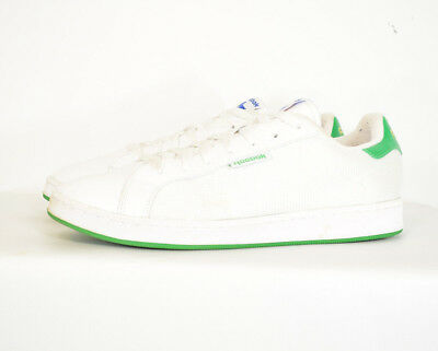 MEN'S REEBOK ROYAL Flag Classic White Leather Trainers Size
