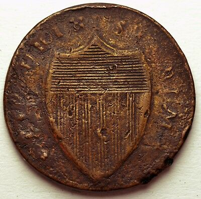 Scarce New Jersey Copper Colonial 1786 or 1787