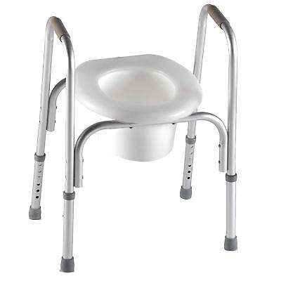 PCP Raised Toilet Seat and Safety Frame, Adjustable Rise Height