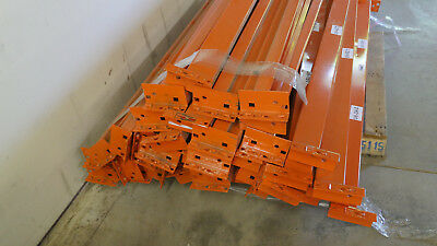 "Pallet Rack Beams- 72"" long 3-3/4"" High x 2-3/4"" deep,  Orange,  stepped"